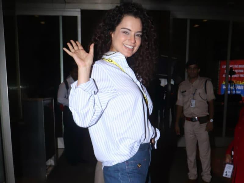 Bon Voyage! Kangana Ranaut Leaves Behind Cannes Vibes In Mumbai