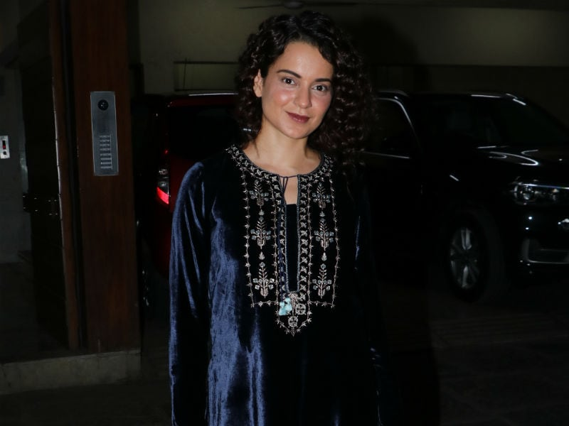 Kangana Ranaut's Fashion A-Game In Midnight Blue