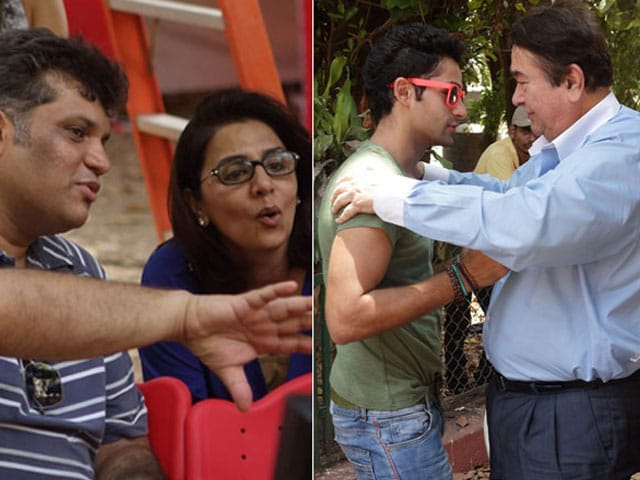 Photo : A Kapoor Cheer Squad for Nephew Arman's First Day on Set