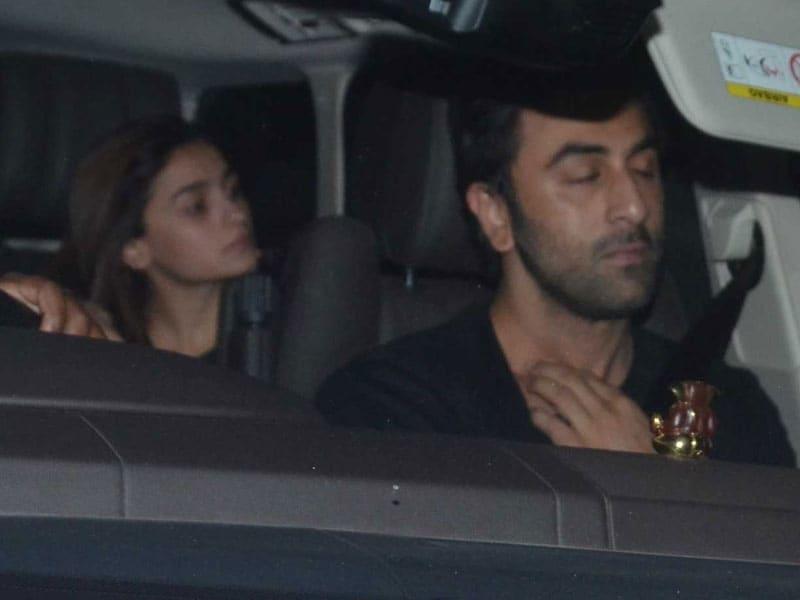 Pics: Alia Bhatt, Ranbir Kapoor, Sidharth Malhotra Visit Karan Johar Late At Night