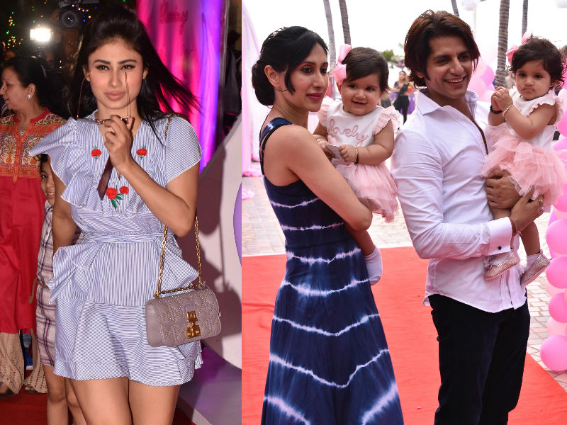 Mouni Roy, Gauahar Khan At Karanvir-Teejay's Twins' Birthday