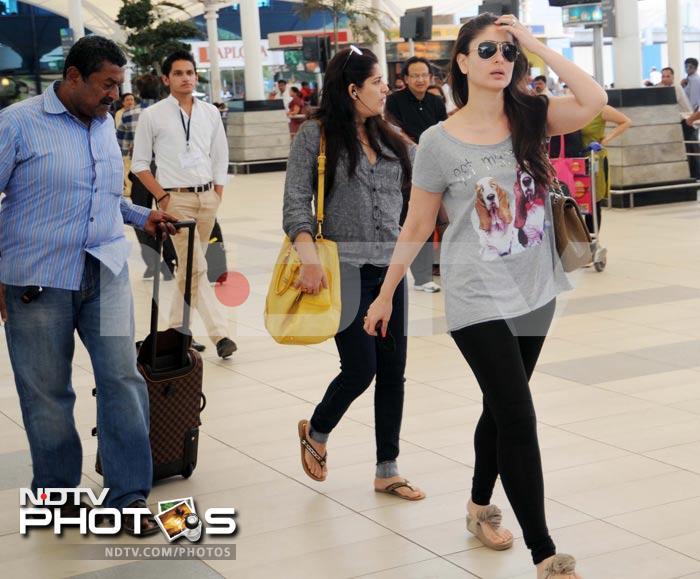 Fuss-free Kareena at the airport