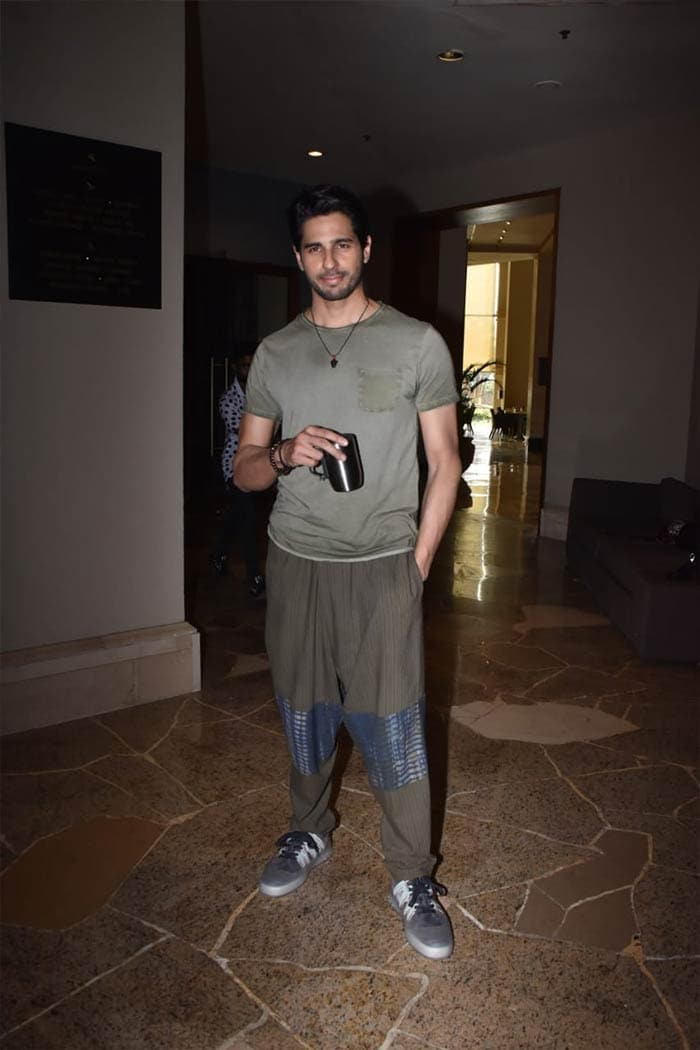 Sidharth Malhotra was photographed promoting his upcoming film Shershaah.