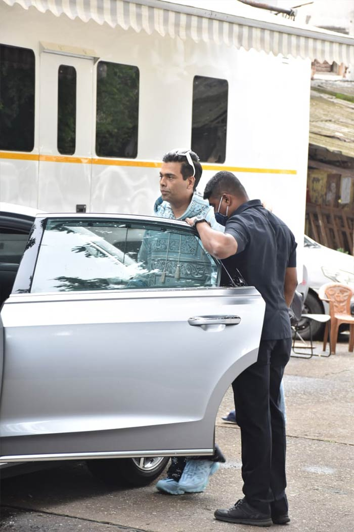 Filmmaker Karan Johar was spotted in Goregaon.