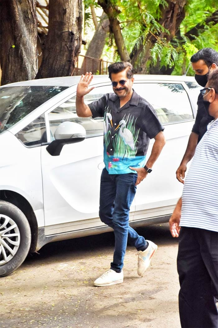 Actor Anil Kapoor was pictured in Juhu.