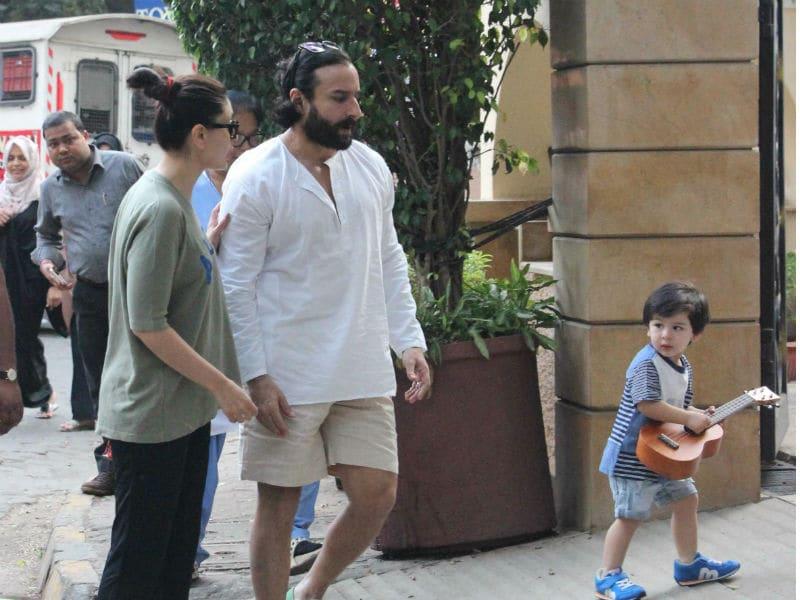 Photo : करीना और सैफ अली खान ने तैमूर के लिए निकाला वक्त, कुछ इस तरह आए नज़र