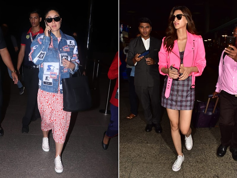Kareena Kapoor And Kriti Sanon's Airport Looks Are Uber-Cool
