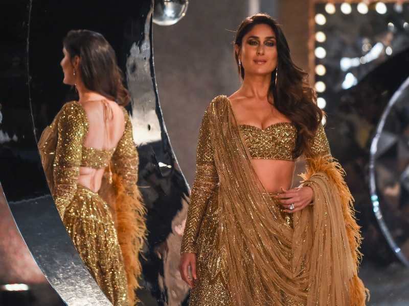 Kareena Kapoor Sprinkles Gold On The Runway