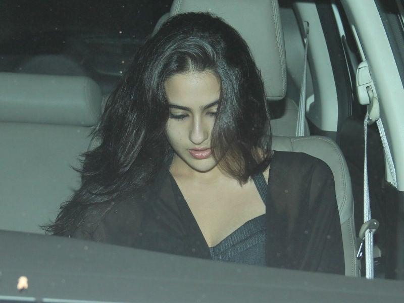 Sara Ali Khan Spotted At Mid-Week Get Together At Kareena's