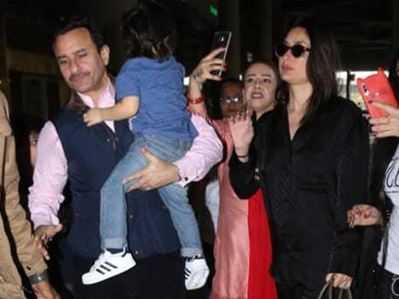 Kareena And Saif Return From Switzerland Vacation With Taimur