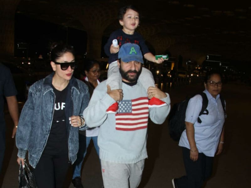 Kareena And Saif Leave For Taimur's Birthday