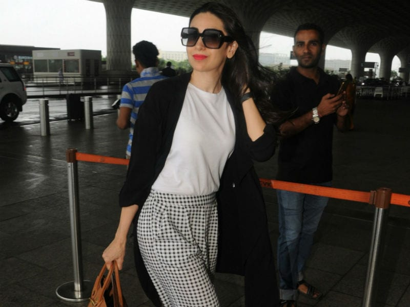 Breezy Morning At The Airport With Karisma Kapoor