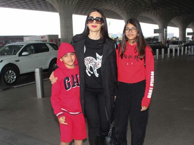 Karisma And Kids Off To Pataudi Palace