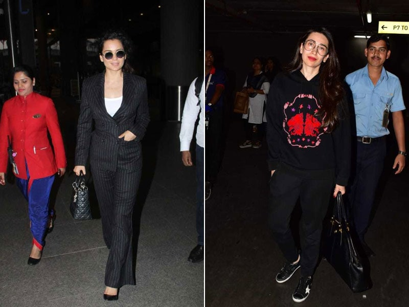 Kangana Ranaut And Karisma Kapoor's Airport Looks Are Steal-Worthy