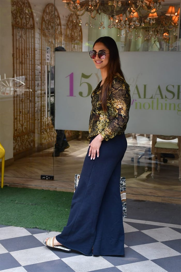 In another part of the city, Krystle D\'Souza was spotted in Bandra.
