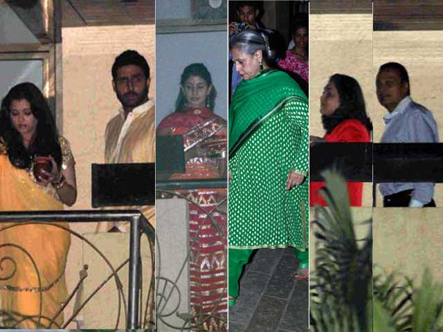 Photo : Moon Watching: Ash, Shweta & the Bachchans Celebrate Karva Chauth with Ambanis