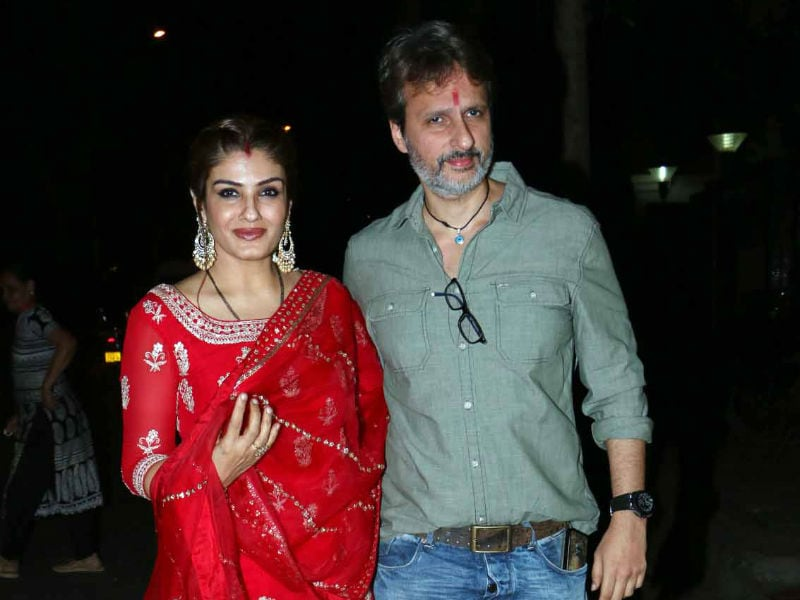 Raveena Tandon And Others At Karva Chauth Celebrations With The Kapoors