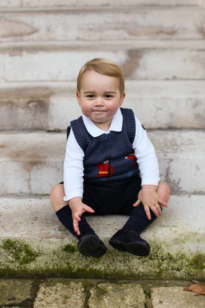 His Royal Cuteness, Prince George Poses for Christmas Portrait