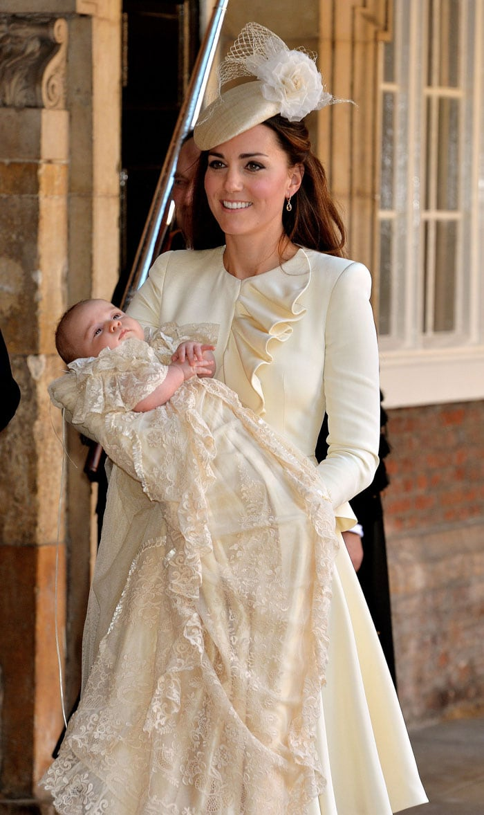 By George! The royal baby is christened
