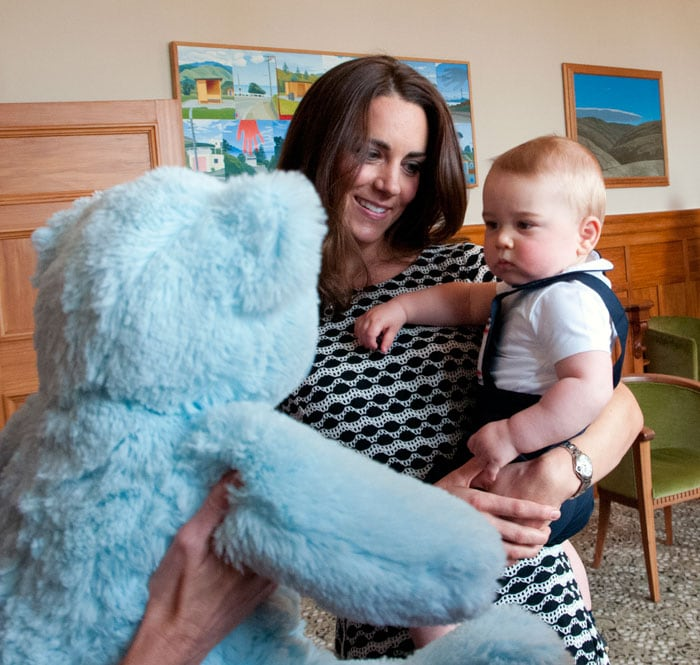 Prince George is the apple of his mother\'s eye