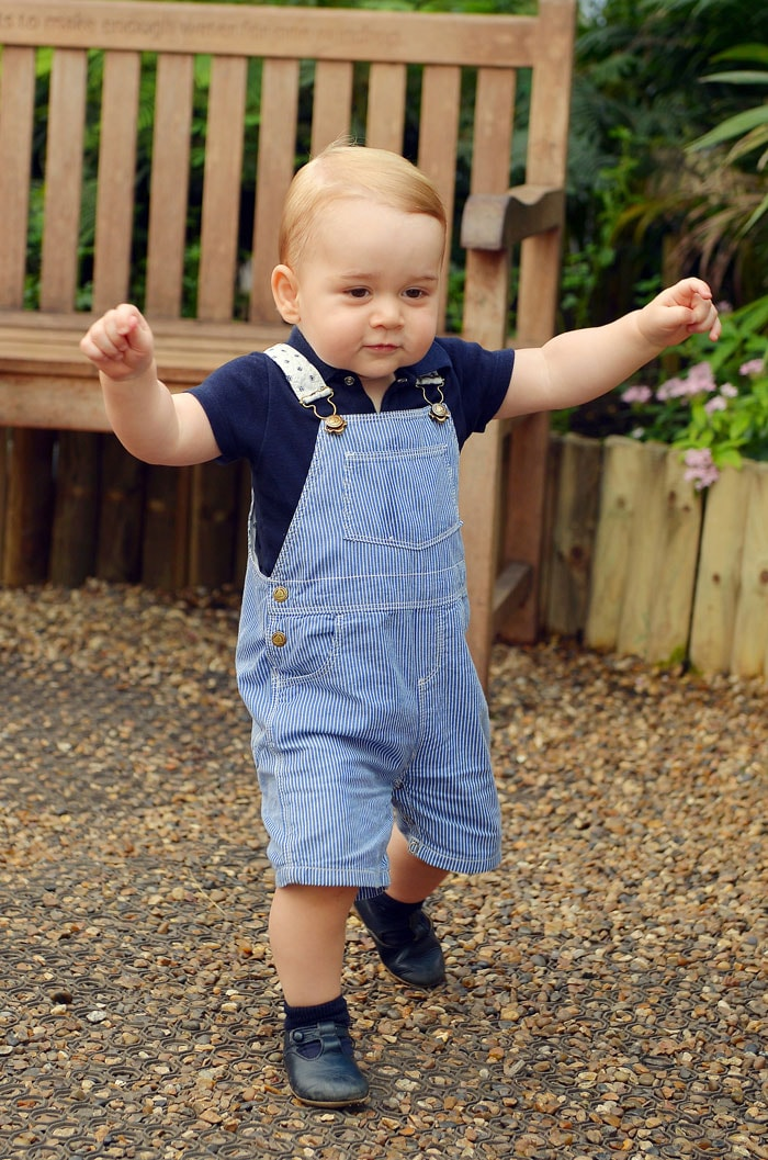 The Royal Walkabout: Prince George Takes Birthday Stroll
