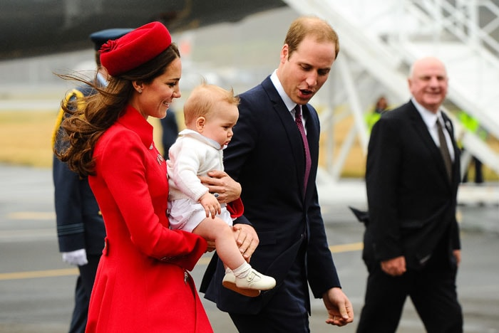 A royal Baby\'s Day Out, on a plane