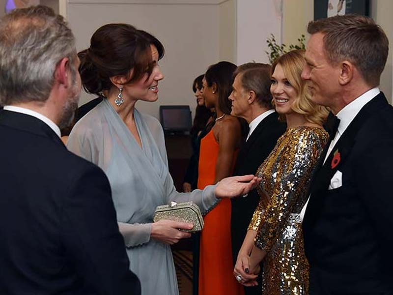 Kate Middleton's Licence to Thrill at Star-Studded SPECTRE Premiere