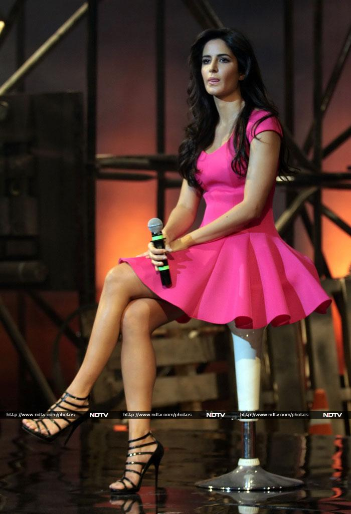 Pink and sarcasm? Katrina wears it well