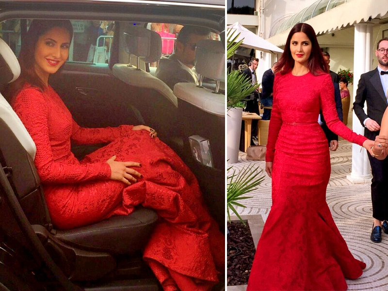 Lady in Red: Katrina Takes Cannes in Elie Saab