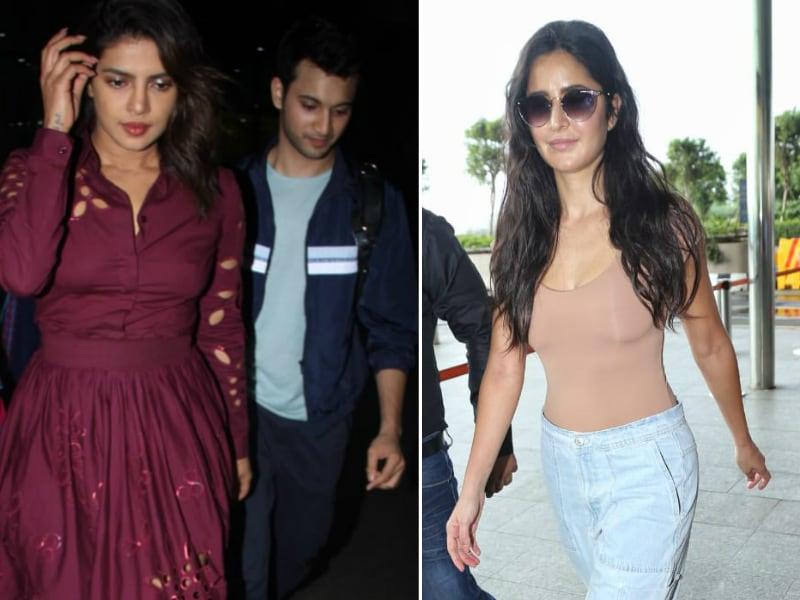 Priyanka And Katrina's Mumbai Touch-And-Go