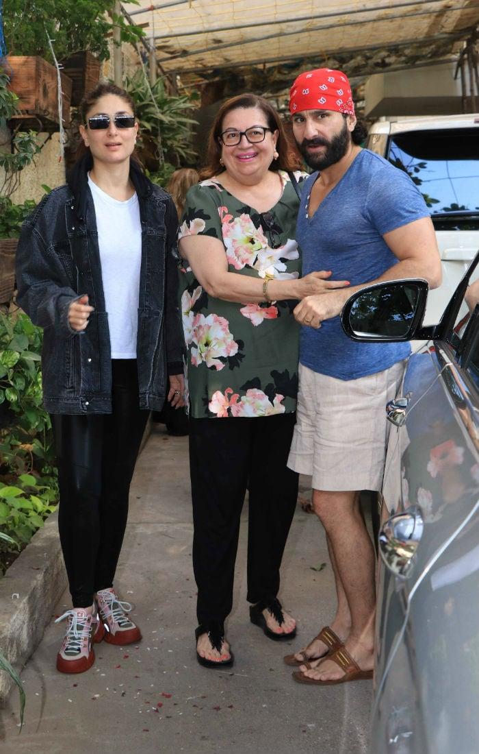 करीना संग बेटी सारा अली खान की पहली फिल्म 'केदारनाथ' देखने पहुंचे सैफ