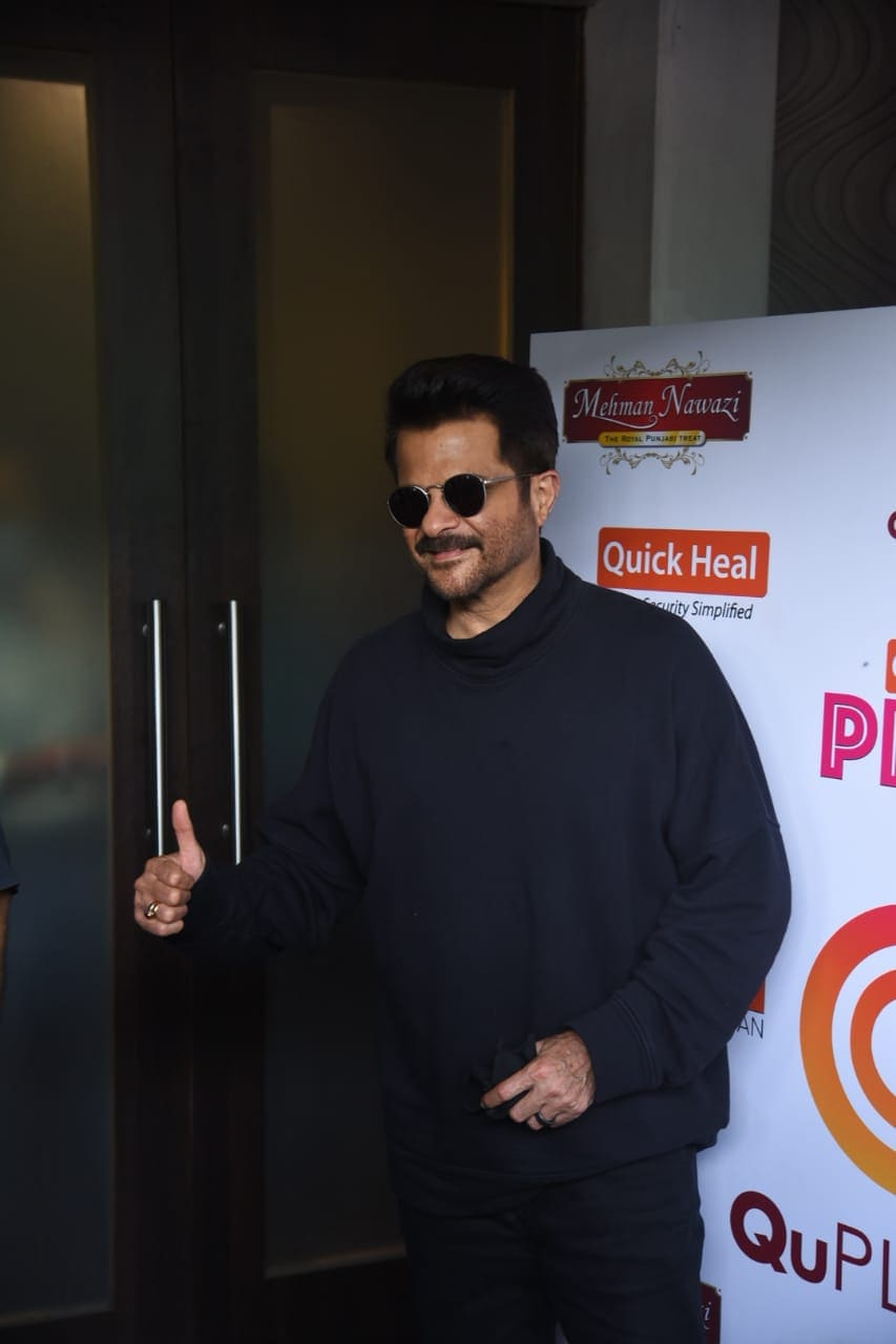 In another part of the city, Anil Kapoor was pictured on the sets of Arbaaz Khan\'s chat show in Juhu.