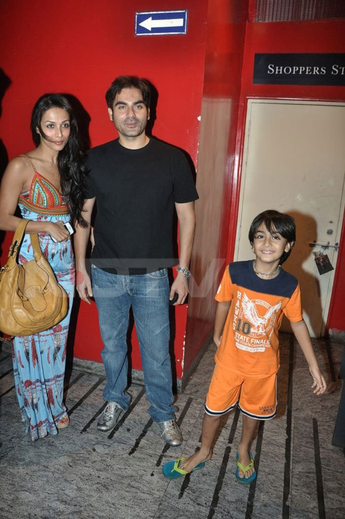 Stars at the screening of Khatta Meetha