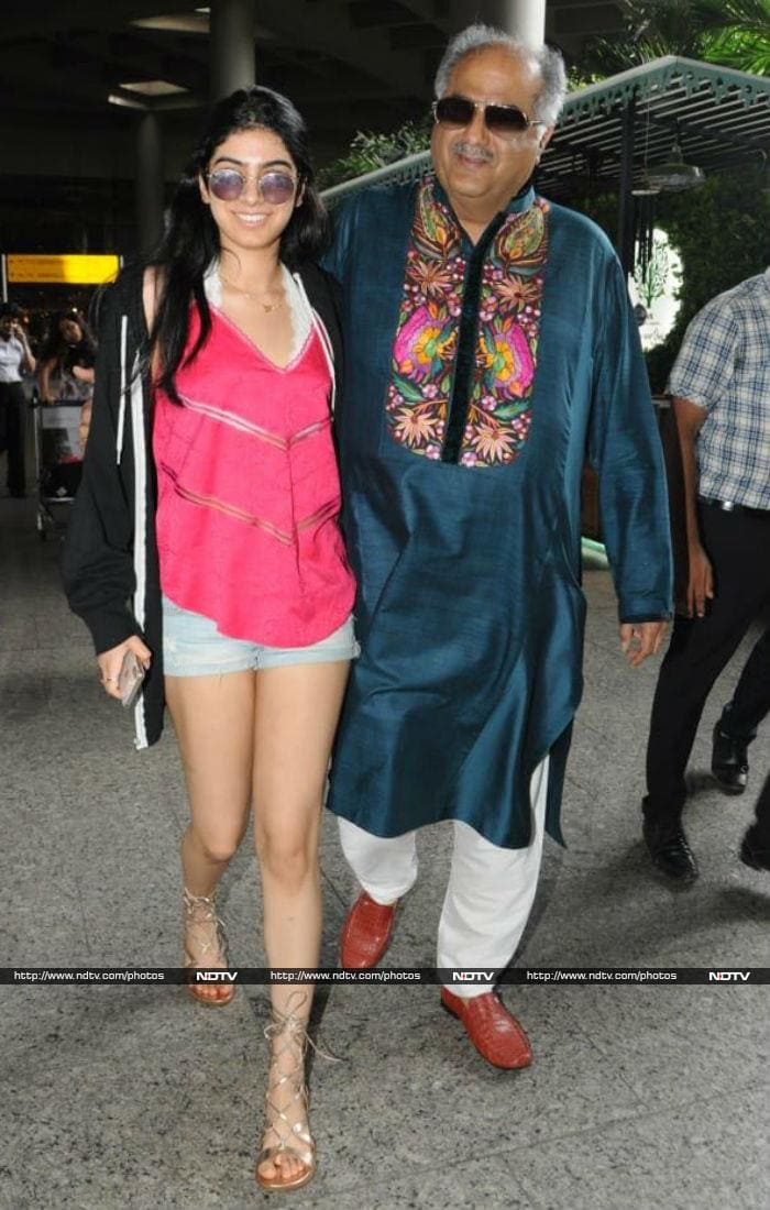 Daddy\'s Girl: Khushi Welcomed By Boney Kapoor With A Hug