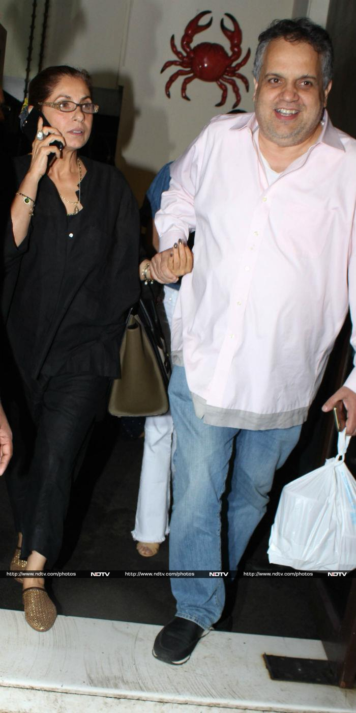 Ladies Luncheon: Sridevi With Khushi, Dimple Kapadia With Amrita Singh