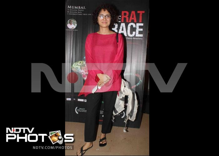 Spotted: Kiran Rao at the special screening of The Rat Race