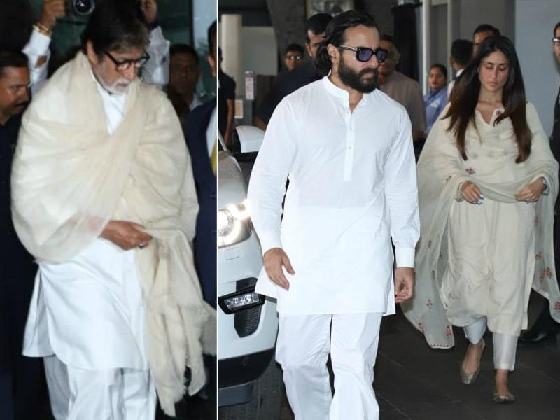 Amitabh Bachchan, Kareena, Karisma At Krishna Raj Kapoor's Chautha