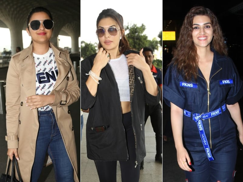 Star-Studded Airport With Kriti Sanon, Parineeti Chopra, Jacqueline Fernandez
