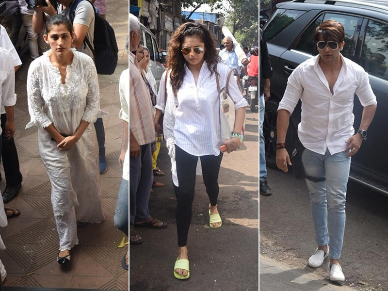 Kubbra Sait, Drashti Dhami, Karanvir Bohra And Other TV Stars Attend Kushal Punjabi's Funeral