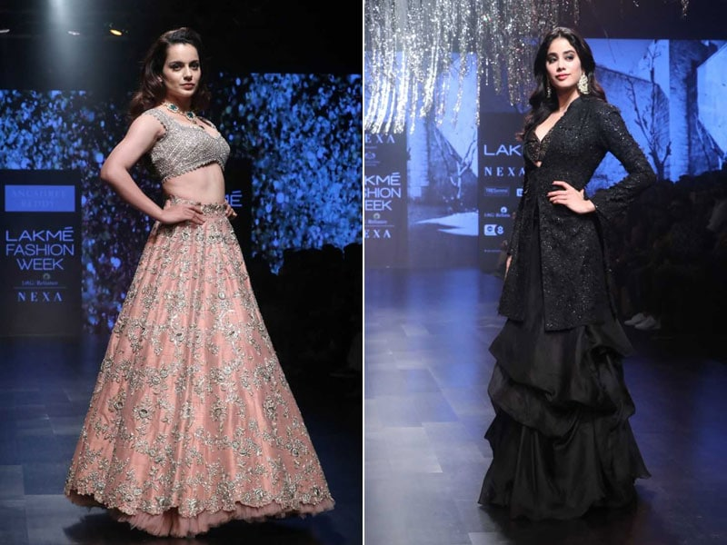 Lakme Fashion Week 2019: Kangana Ranaut And Janhvi Kapoor Sizzle As Showstoppers In One Night