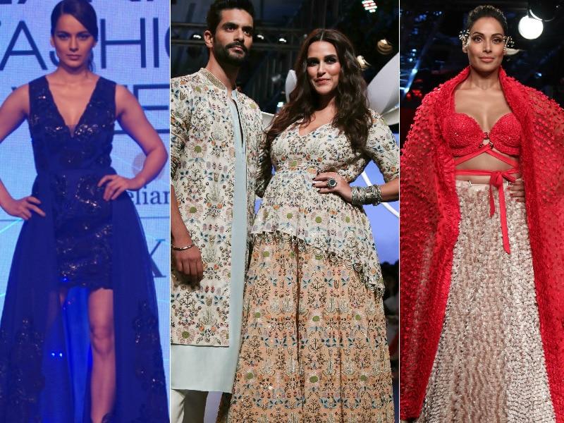 Photo : Lakme Fashion Week: रैंप पर बॉलीवुड सितारों ने बिखेरा जलवा