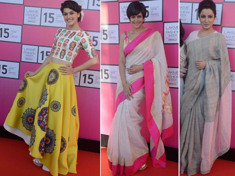 Lakme Fashion Week Preview Courtesy Taapsee, Mandira, Tisca