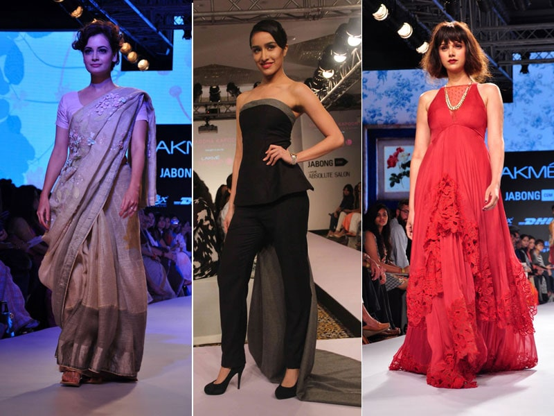 Celebrity Catwalkers at Fashion Week: Dia, Shraddha, Aditi