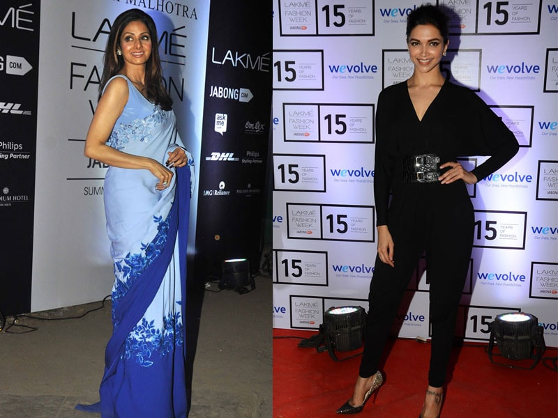 At Manish Malhotra's Show, Sridevi is To Die For, Deepika a Close Second