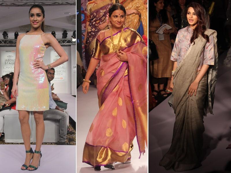 At Lakme Fashion Week Shraddha, Vidya, Sonali Shine on the Ramp