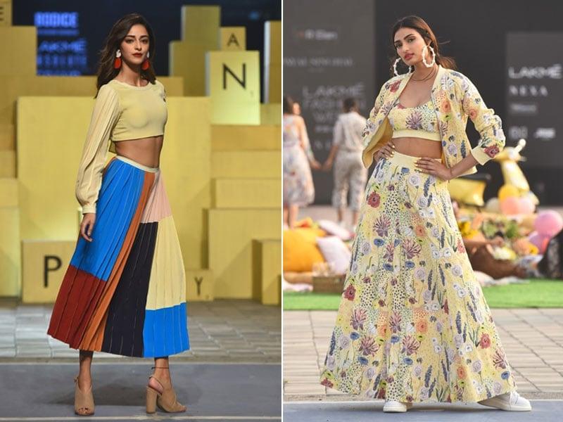 Photo : Showstoppers Ananya Panday And Athiya Shetty Add Stardust To Lakme Fashion Week