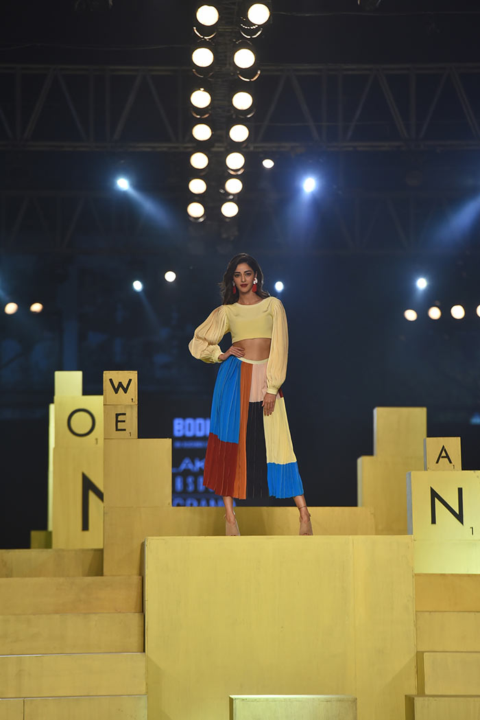 Ananya exuded elegance as she walked the ramp in designer Ruchika Sacheva\'s haute couture.