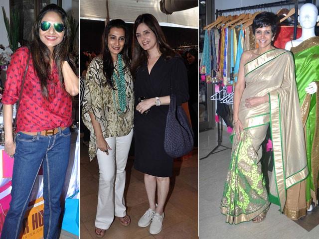 Shopping with the stars: Madhoo, Mana, Simone, Mandira