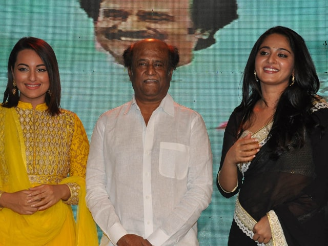 A Note-Worthy Lingaa Party: Rajinikanth, Sonakshi, Anushka