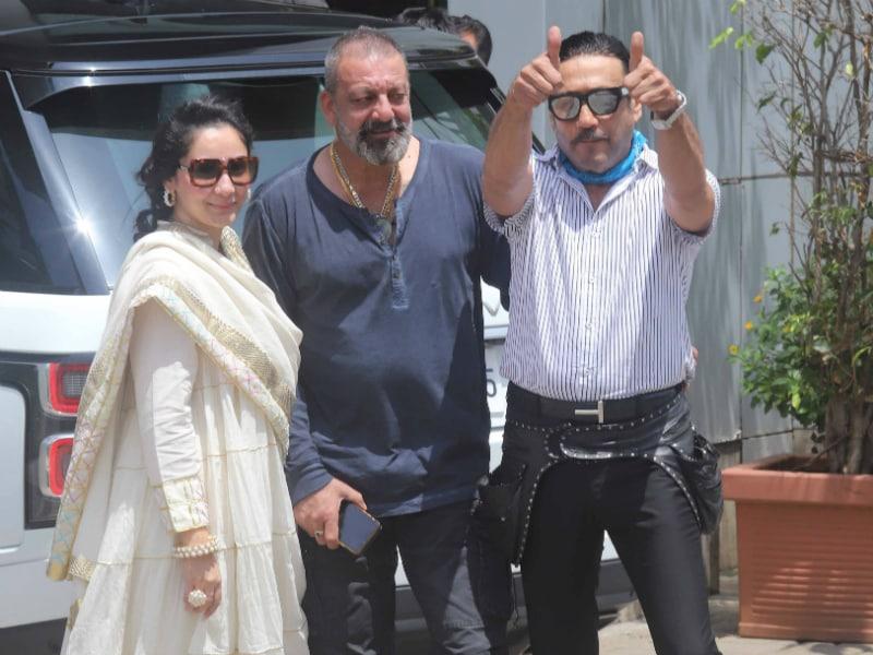 Sanjay Dutt, Maanayata Take Off For Prasthanam Duties
